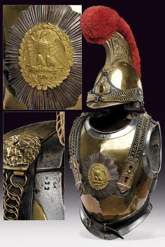 A Carabinier officer's helmet and cuirass ,                                                                       provenance:     France                    dating:       third quarter of the 19th Century