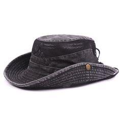 e472f174980 Mens Summer Cotton Embroidery Visor Bucket Hats Fisherman Hat Outdoor  Climbing Mesh Sunshade Cap Cheap