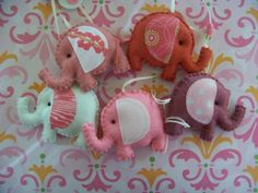 "Baby Mobile - Baby Crib Mobile - Elephant Mobile -  Nursery Baby Room ""Elephants Parade"" (You can pick your colors)"
