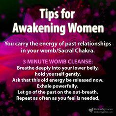 Awakening Women: 3 minute womb cleanse. www.kimberleyjones.com