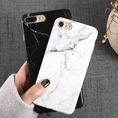 高級大理石柄i 8電話ケース用iphone 8プラスケース用iPhone8プラス黒電話アクセサリーcoque × 7プラス6 6 s 5 s se