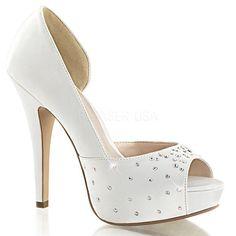 """Red Rhinestone Shoes Satin 5.5/"""" Stiletto Platform Bombshell Ruby Slippers UK 4.5"""