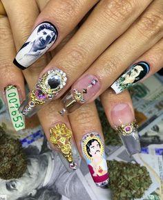 Pablo Escobar Nails by nailsyulieg