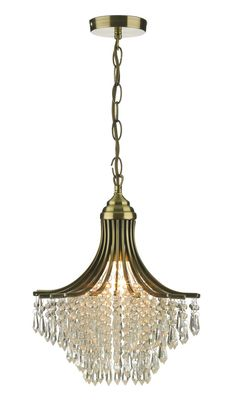 Add a touch of class to your home with a classic crystal, brass, gold or antique chandelier. Enjoy FREE and fast delivery to most of the UK on orders over Shop online now! Lighting Bugs, Art Deco Lighting, Dar Lighting, Lighting Design, Antique Brass Chandelier, Glass Chandelier, Glass Ceiling Lights, Ceiling Pendant