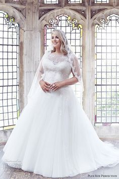 plus size perfection bridal 2016 cap sleeve sweetheart illusion jewel neck a line ball gown wedding dress (anastasia) zv romantic elegant