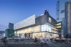 A bright new addition to the prominent IFS portfolio Mall Facade, Retail Facade, Architecture Design, Entrance Design, Facade Design, Commercial Complex, Facade Lighting, Mall Design, Arquitetura