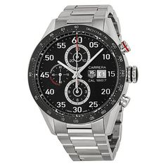 Tag Heuer Carrera Black Dial Stainless Steel Automatic Chronograph Mens Watch CAR2A10.BA0799 #best #sellers #luxury #watches