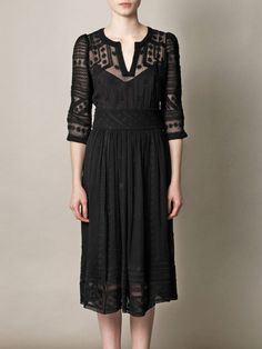 ~ Isabel Marant - Ludivine Embroidered Silk Chiffon Dress