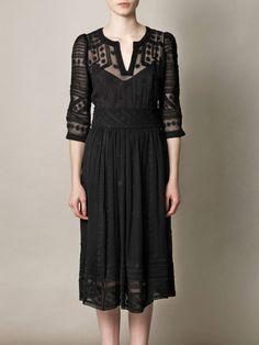 ~ Isabel Marant - Ludivine Embroidered Silk Chiffon Dress