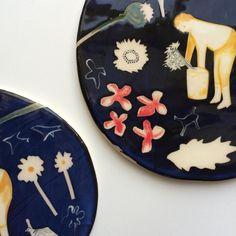Polly Fern. Flower picker ceramic hangers available online -