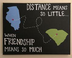 DIY. friendship. college. dorm. craft. Canvas. Painting. Illinois. South Carolina.