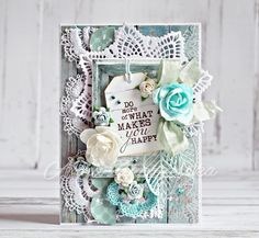 Beautiful Blue Bay collection from Kaisercraft. Made by Anna Zaprzelska, Jan 2015 Scrapbook Blog, Scrapbook Cards, Scrapbooking, Card Making Tutorials, Making Ideas, Paper Cards, Diy Cards, Shabby Chic Cards, Beautiful Handmade Cards