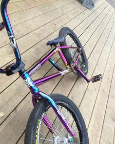 ☼✦ Pinterest: dopethemesz ; oil slick, holographic dreams ; rainbow bike ✦☼