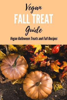 Vegan Fall Treat Guide - Halloween Treats and Fall Recipes - Vegan Recipes Beginner, Best Vegan Recipes, Fall Recipes, Vegetarian Recipes, Holiday Recipes, Vegan Candies, Vegan Treats, Vegan Desserts, Fall Treats