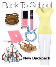 """Back to School"" by chanlee-luv ❤ liked on Polyvore featuring Charlotte Russe, J Brand, Jane Norman, Accessorize, Boohoo, NARS Cosmetics and Sif Jakobs Jewellery"