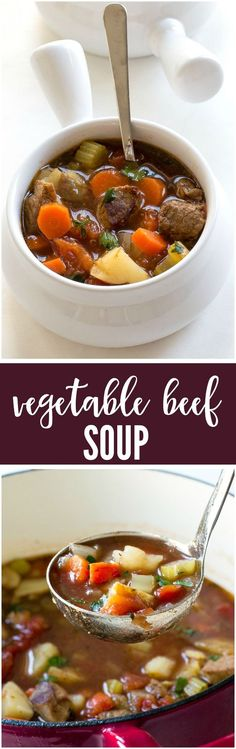 This Vegetable Beef Soup is Super comforting, hearty and can be ready in less than 45 minutes!