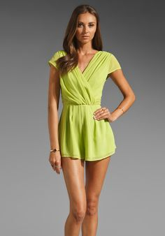 neon green romper jumper