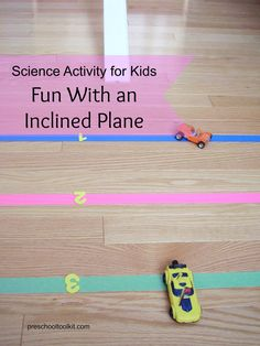 Learning about an inclined plane is lots of fun with this science activity. Kids observe and experiment as they play - racing toy cars, building structures, and measuring distances.