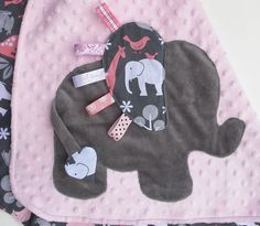 Elephant tag blanket.