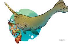 Mermaids by Tyler Lederer, via Behance
