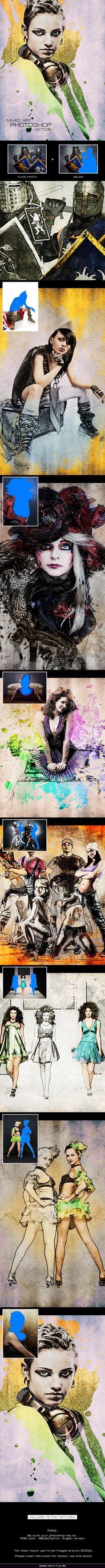 artist photoshop action free download