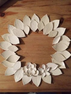 Image of Ceramic & Porcelain Forever Wreath, Paper Mache Sculpture, Pottery Sculpture, Clay Art Projects, Clay Crafts, Slab Ceramics, Pottery Handbuilding, Clay Wall Art, Free To Use Images, Slab Pottery