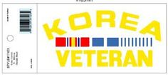 KOREA VETERAN W/RIBBONS DECAL KOREA VETERAN W/RIBBONS DECAL [EC-17423] - $4.00 : Hat n Patch, Military Hats, Patches, Pins and more