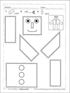 Number Names Worksheets A Cutting Skills Free On Number Names Cutting Activities For Kids, Preschool Cutting Practice, Preschool Number Worksheets, Summer Worksheets, Free Kindergarten Worksheets, Preschool Writing, Free Preschool, Preschool Lessons, Scissor Skills