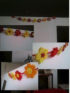 plastic cup flower garland