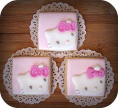 Hello Kitty Cookies   Hello Kitty Party  by katiesomethingsweet, $48.00