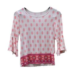 63b50b09cc3 Justice Girls Long Sleeve Floral T Shirt Size 10 Youth EUC