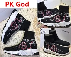 66cf8ee4b 2018 Balenciaga Speed Trainer Sneakers Multicolour Knit Sock snake logo PK  God Perfectkicks Instagram legit check review cheapest