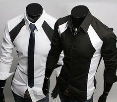 Casual Shirts Mens Casual Luxury Stylish Dress Slim Shirts 2 Colors 4 Us Size Long Sleeve Shirt Dress, Long Sleeve Shirts, Casual Shirts For Men, Men Casual, Tux Shirt, Shirt Men, Style Masculin, Slim Fit Dress Shirts, Mens Fashion
