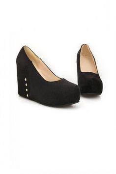 c4cccd1f3d10 Faux Leather Plain Color Platforms High Heels Shoes