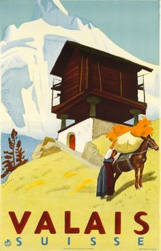 Valais Switzerland Suisse Winter Ski Europe Travel Advertisement Art Poster in Posters Ski Vintage, Party Vintage, Retro Poster, Vintage Travel Posters, Ski Europe, Switzerland Tourism, Alps Switzerland, Swiss Travel, Ski Posters