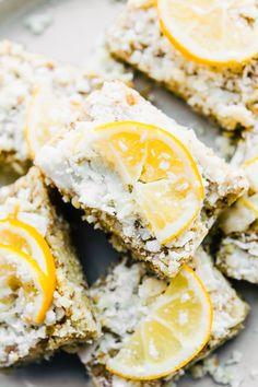 No Bake Lemon Coconut Paleo Energy Bars {Lower Sugar}