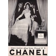 1930s Chanel ad featuring Coco herself at the Ritz in Paris.