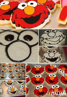 How to Decorate Elmo Cookies