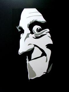 """Ilustración del personaje de Igor (interpretado magistralmente por Marty Feldman en """"Young Frankenstein"""" de Mel Brooks en 1974)"""