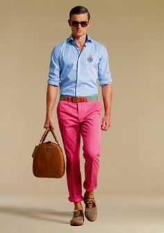 This outfit is so spring! It could be dressed up a bit with white pants, a brown belt, and a bow tie. MUST HAVE!