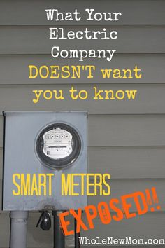 Heard about Smart Meters and how great they are supposed to be? Think again. The Electric Companies say that Smart Meters will save you money and that they are safe. But there& more to the story than meets the eye. Find out the real truth here. Ways To Save Money, Money Tips, Money Saving Tips, Saving Ideas, Party Deco, Just In Case, Just For You, Electric Company, Thing 1