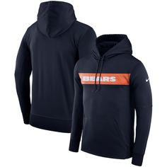 Men s Nike Navy Chicago Bears Sideline Team Performance Pullover Hoodie.  Hoodies 266b9d9f4