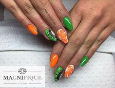 Kiwi Orange nails fruit owoce na paznokciach #kiwinails #kiwi #orange #neonnails #indigonails #nails #nailart #nailpolish #nailstagram #naildesign #nails2inspire #nailsoftheday #nailartaddict #nailpaint #nailfashion #nailstyle #naildesigns #greennails #orangenails #neongreen #neonorange #gelnails #gelnägel