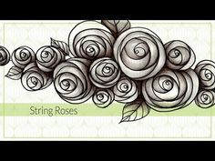 How to draw String Rose Tangle Pattern - YouTube