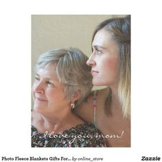 Photo Fleece Blankets Gifts For Mom From Daughter