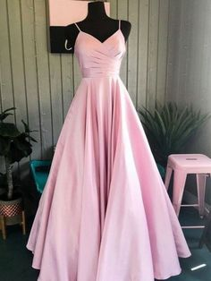 Long Pink Prom Dresses,Satin V Neck Formal Dresses,Evening Gowns · bridesdaypro. - - Long Pink Prom Dresses,Satin V Neck Formal Dresses,Evening Gowns · bridesdayprom · Online Store Powered by Storenvy Source by Prom Dresses Long Pink, Winter Formal Dresses, Pretty Prom Dresses, Prom Dresses For Teens, Dress Winter, Wedding Dresses, Summer Dresses, Pink Dresses, Teen Pageant Dresses