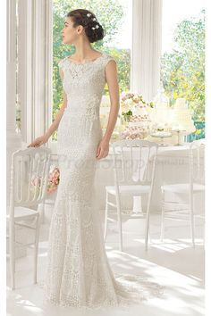 Chic Lace Scoop Cap Sleeves Sheath Wedding Dresses - Wedding Dresses 2016 - Wedding Dresses - Promshop.com.au