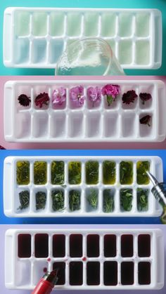 8 ways to hack an ice tray from making easy ravioli and chocolate bars, to preserving herbs and wine, ice cube trays are incredibly useful. Ice Cube Trays, Ice Tray, Flavored Ice Cubes, Mothers Day Brunch, Food Platters, Diy Food, Food Hacks, Cooking Hacks, Slushies