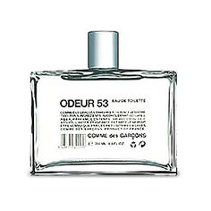 Odeur 53 Notes oxygen, flash of metal, fire energy, washing drying in the wind, mineral carbon, sand dunes, nail polish, cellulose, pure air of the high mountains, ultimate fusion, burnt rubber, flaming rock