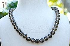 Black smokey quartz necklace - Wedding nacklaces (*Amazon Partner-Link)